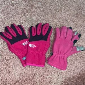 North Face snow gloves